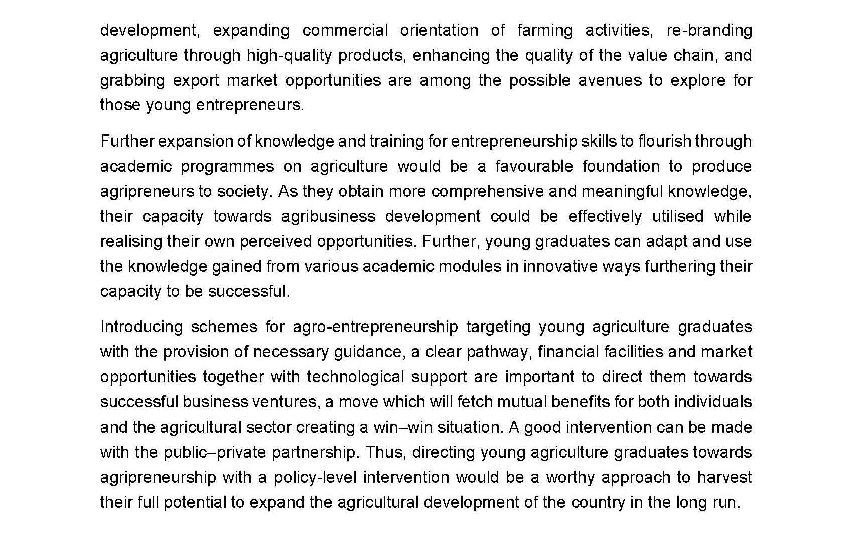 Motivating agriculture graduates with entrepreneurship opportunities Page 6